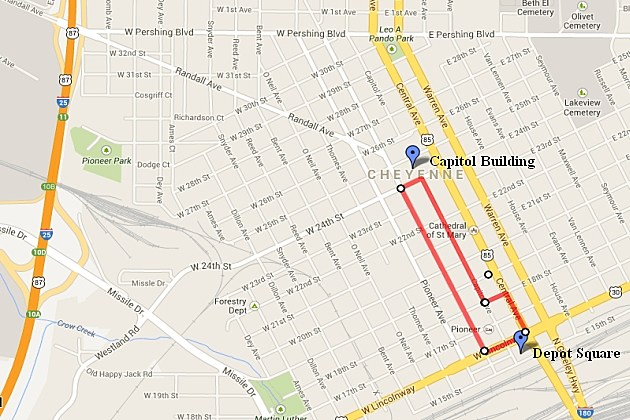 Cheyenne Frontier Days 2013 Parade Route