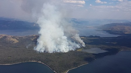 Alder Fire in Yellowstone