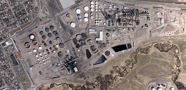 The HollyFrontier refinery complex in Cheyenne. (Google)