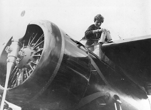 Earhart In Cockpit