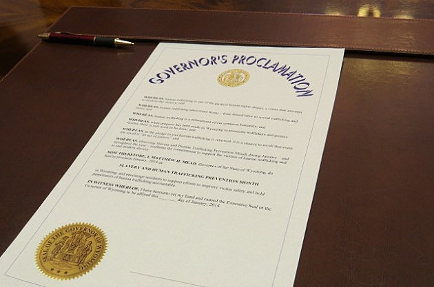 Human Trafficking Prevention Proclamation