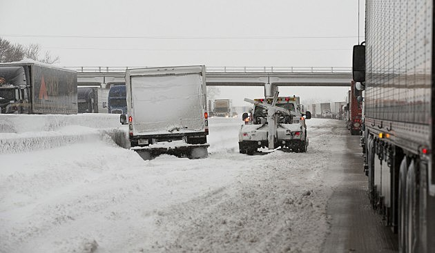 I-90 during blizzard