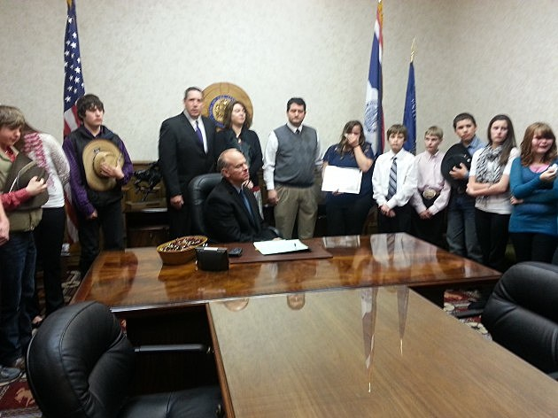 School bus cameras signing bill ceremony