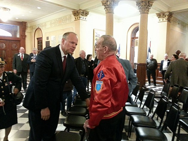 Governor Mead and Veteran