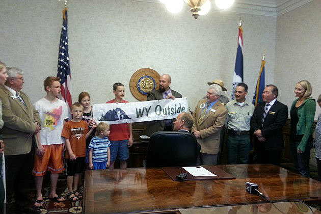 Governor Mead - great outdoors signing