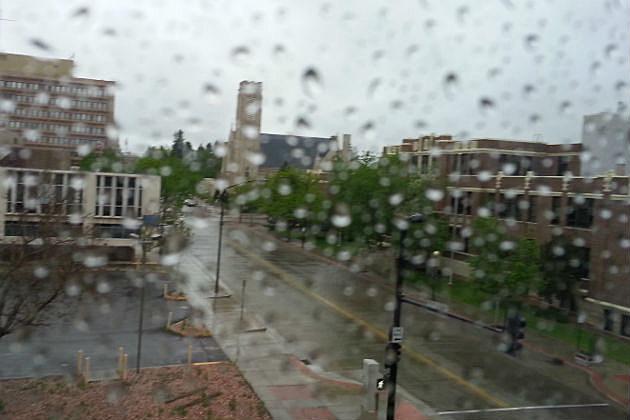 Sunday's rain storm
