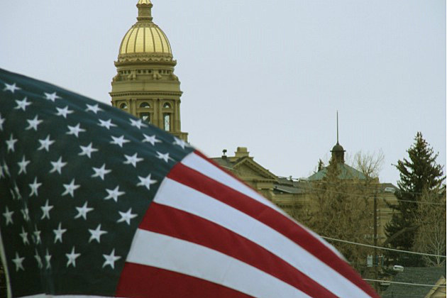 Wyoming Legislature Flag and Dome