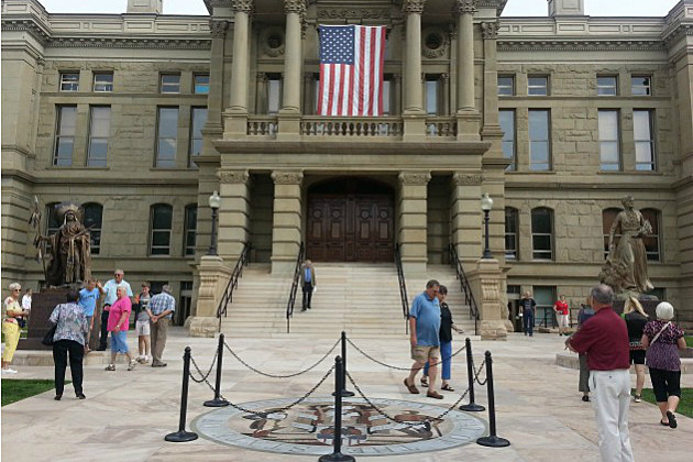 Wyoming-Capitol-Dressed-up-for-Frontier-Days