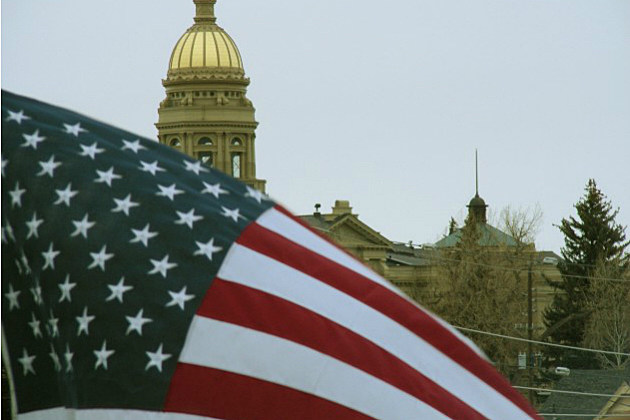 Wyoming capitol-flag