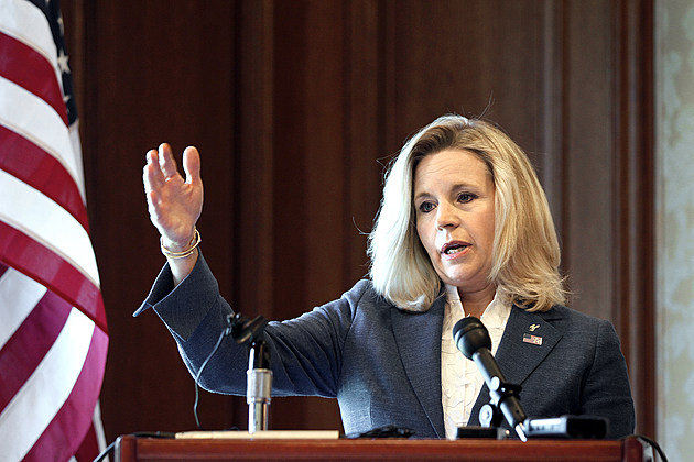 Wyoming Senate Candidate Liz Cheney Holds News Conference Day After Announcing She's Running