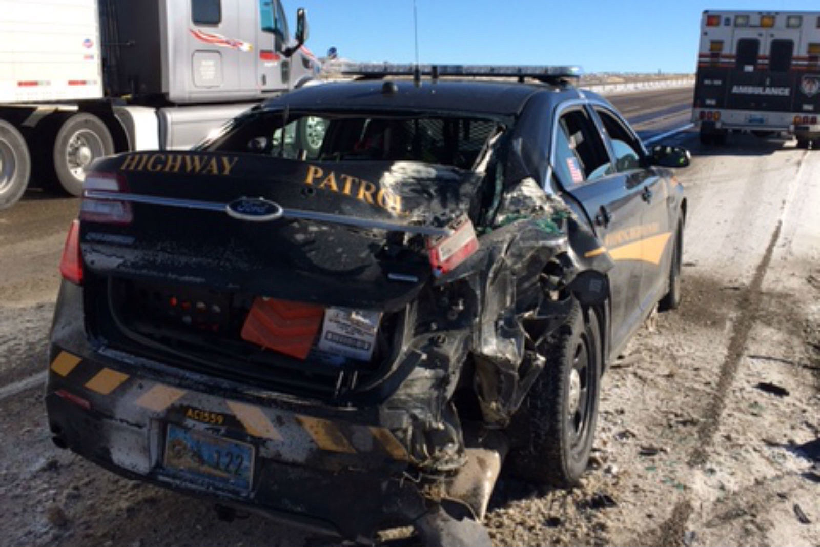 Wyoming Highway Patrol Trooper Injured East of Rock Springs