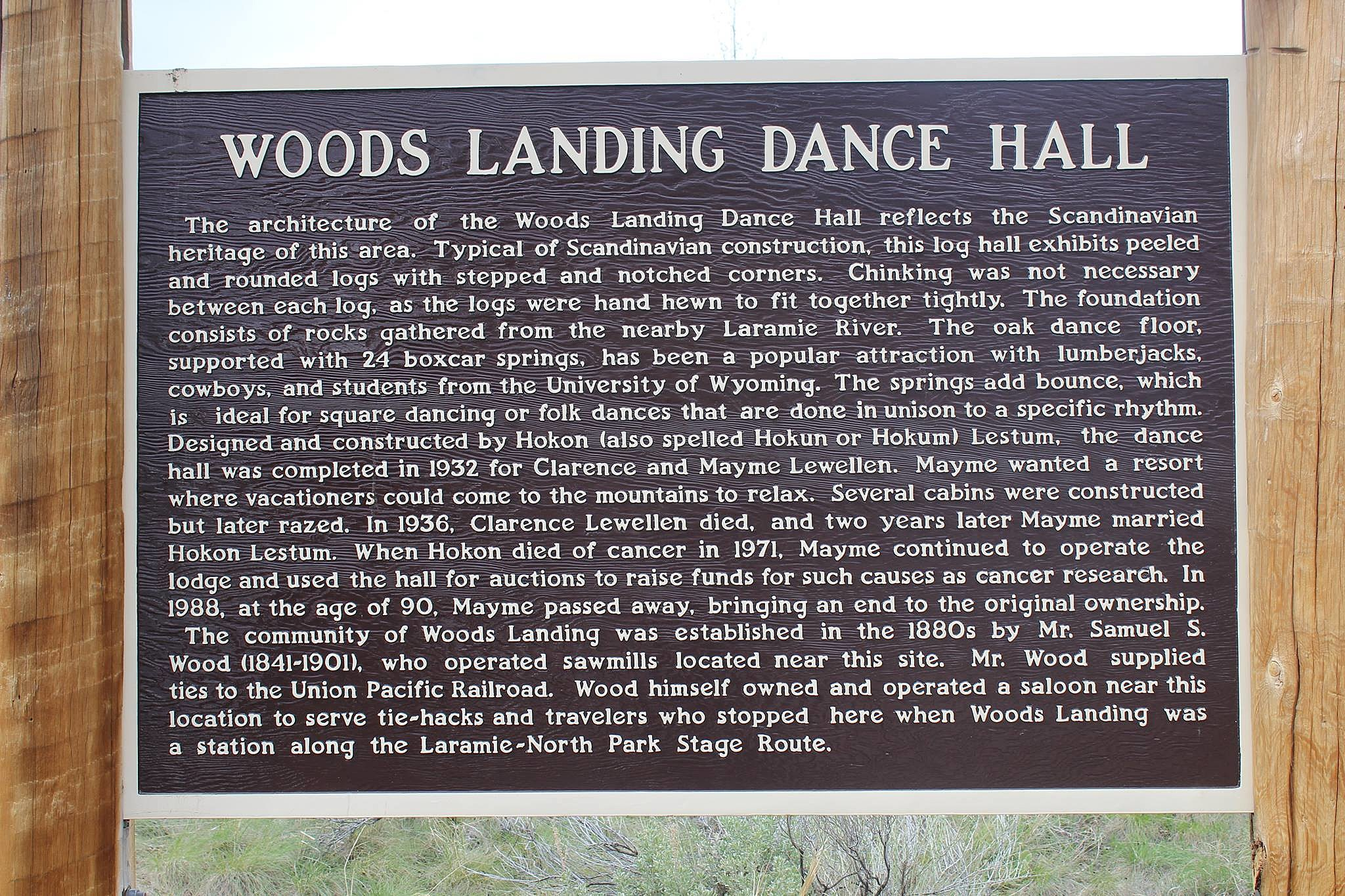 Woods Landing Historic Sign, Photo by Tim Mandese [Tim From Tampa}