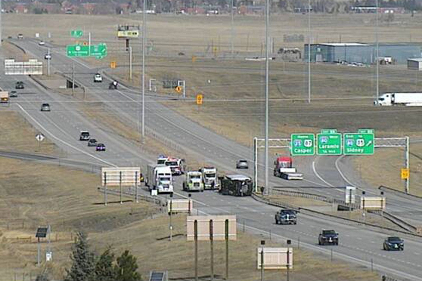 Wind speeds cause I-25 to close between Wellington and Wyoming border